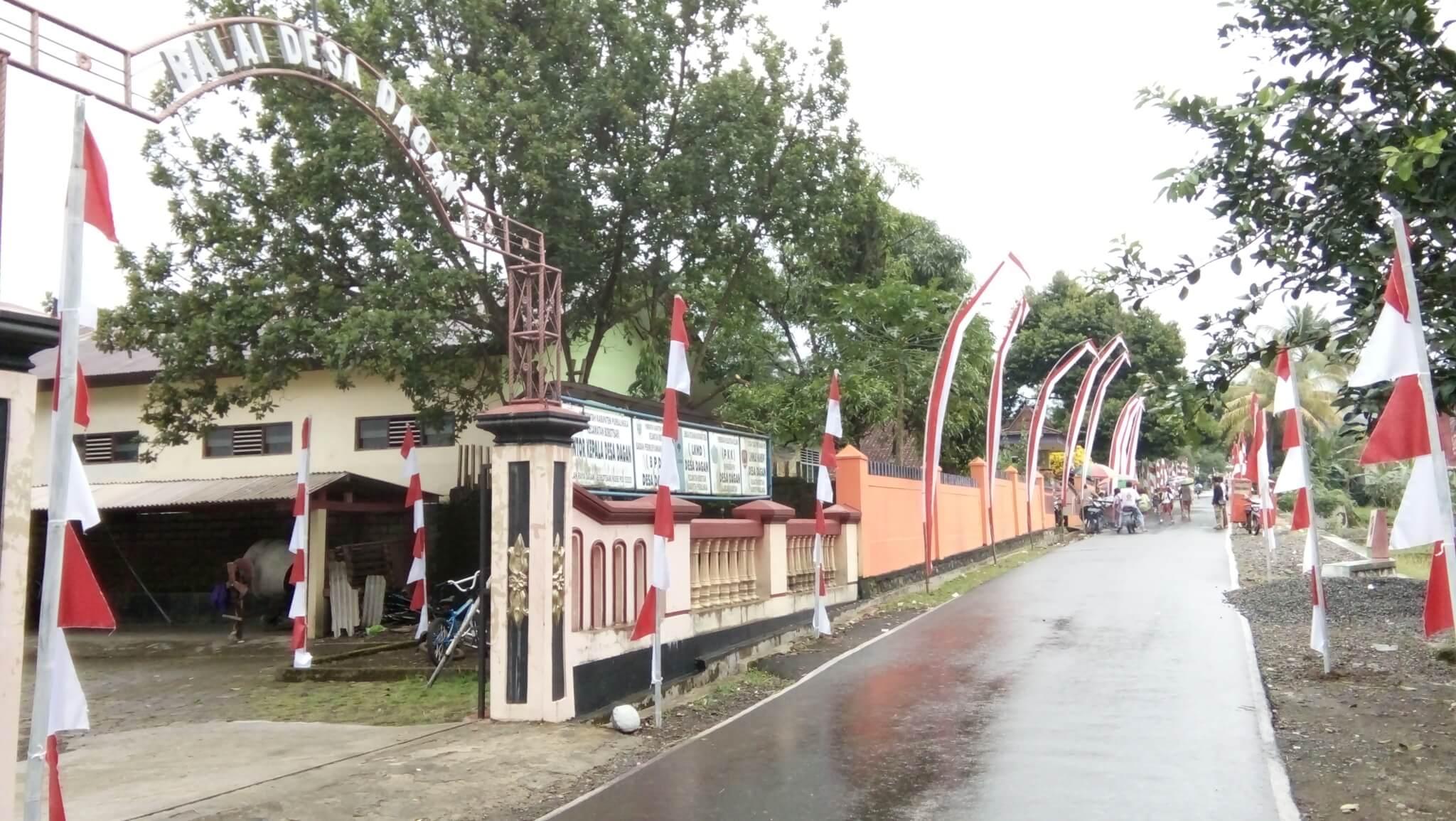 Desa Dagan Ikut Lomba Gebyar Merah Putih Tingkat Kabupaten