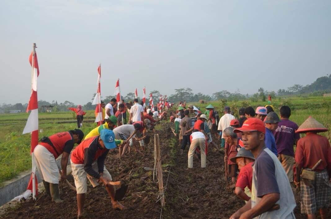 Pengerjaan Jalan Usaha Tani di Dusun I Desa Dagan Tunggu Pencairan Dana Desa