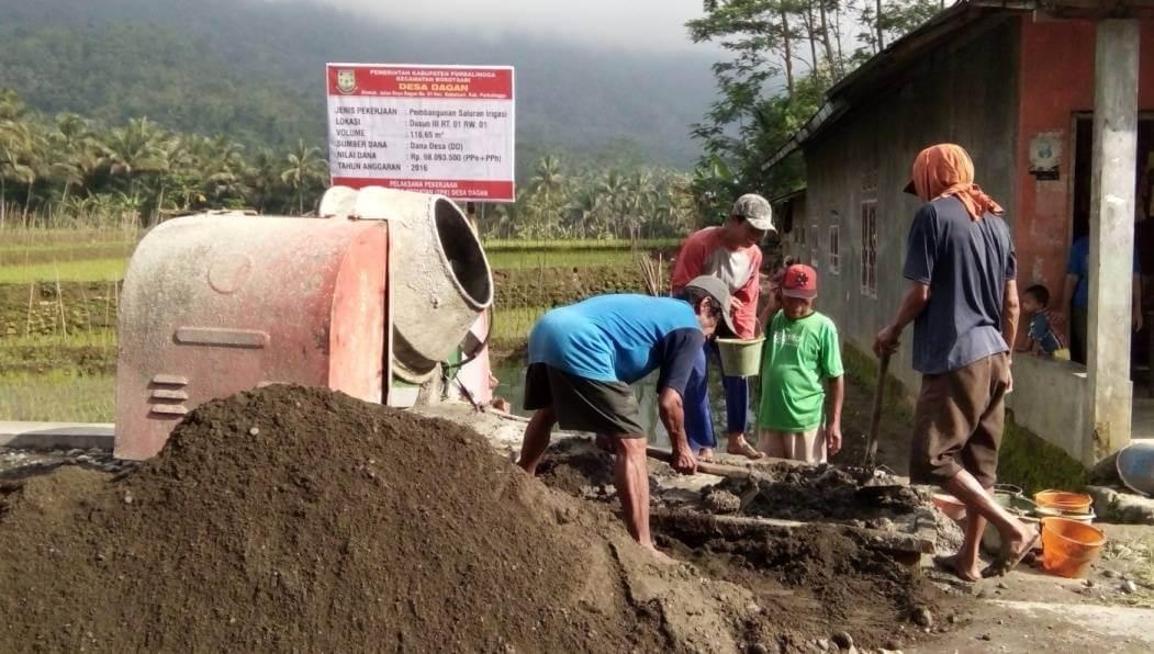 Pembangunan Jaringan Irigasi Desa Dagan