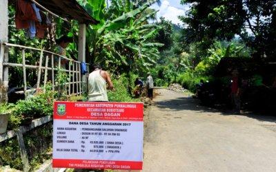 Desa Dagan Bangun 10 Kebutuhan Infrastruktur Menggunakan Dana Desa Tahun 2017
