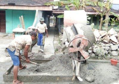 Jalan Pemukiman di Dusun I Mulai Dibangun