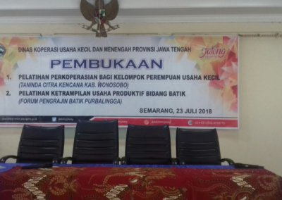 Perajin Batik Desa Dagan Ikuti Pelatihan Batik Tingkat Lanjut di Semarang