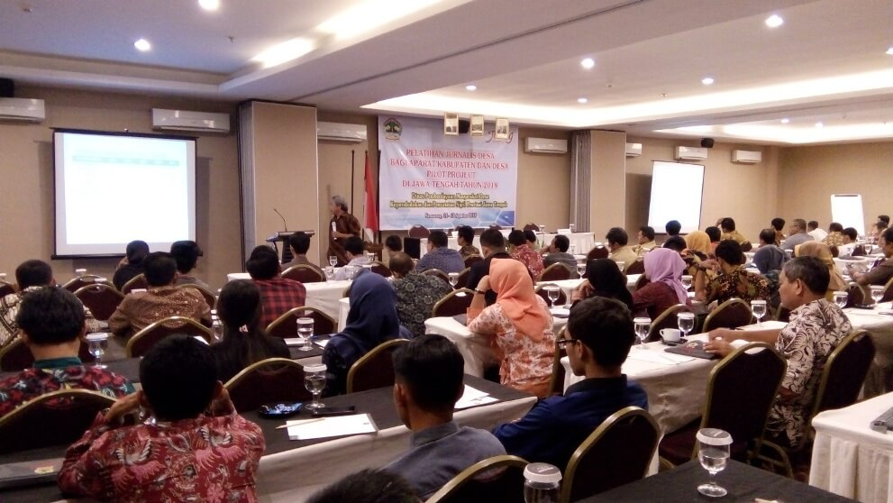 Operator SID Desa Dagan Ikut Pelatihan Jurnalis Desa di Semarang