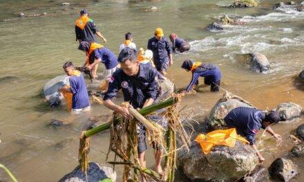 Karangtaruna Kridatama Desa Dagan Gelar Kegiatan Bersih Kali Klawing