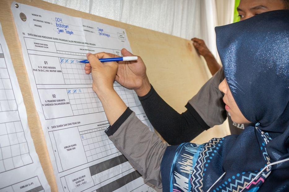 Pilpres 2019: Di Desa Dagan, Perolehan Suara Pasangan Jokowi-Ma'ruf Amin ungguli Prabowo-Sandi