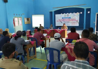 Tim Pokja Relawan Pemutakhiran Data Berbasis SDGs Desa Dagan Selenggarakan Bimtek